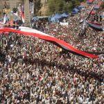 اليمنيون يحتشدون في الساحات العامة دعما للحكومة ورفضا للعنف