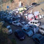 وفاة وإصابيتن وصفت بالخطيرة جداً في حادث مروع على طريق المندق