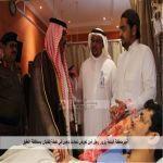 أمير الباحة يطمئن على مديرمستشفى النقاهة ويزوررجل الأمن الشمراني