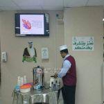 عيادات مستشفى محايل العام تستقبل المراجعين بالقهوة والشاهي والماء