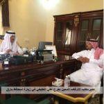محافظ بارق يستقبل في مكتبه مدير مكتب الاوقاف المعين الاستاذ مفرح الخليفي