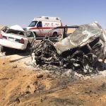 حادث طريق نجران شرورة يصرع 3 مواطنين سعوديين