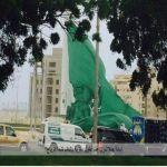"""""""أمانة جدة""""تُنزل علم أطول سارية بالعالم لشدة الرياح"""