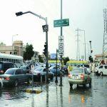 102 حادث مروري وتعطل 12 إشارة ضوئية  5345 بلاغاً خلفته امطار الرياض