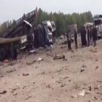 انفجار شاحنة مفخخة بمنطقة سفوان على الحدود العراقية الكويتية