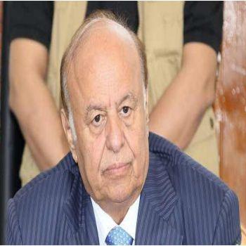 الرئيس اليمني يصل قاعدة الرياض الجوية