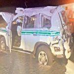 مصرع قائد دورية امنية واصابة معاونية على طريق الشعيبة