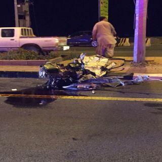 ثلاث إصابات أحداهن خطيرة في حادث تصادم بطريق الأطاولة بمنطقة الباحة