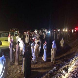 حادث انقلاب بطريق الملك سعود بالباحة يستنفر طواقم الهلال الأحمر