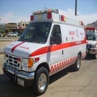 (6) إصابات بحادث البدع بطريق العصيلة بتبوك والهلال الأحمر يُباشر الحادث