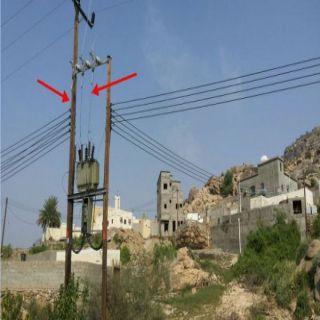 شاهد بعض قري محافظة بارق (14) ساعة بلاكهرباء