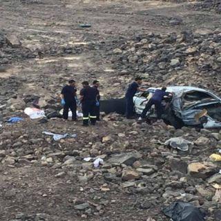 وفاة ثلاث شباب في حادث طريق قريظة بالمدينة المنورة
