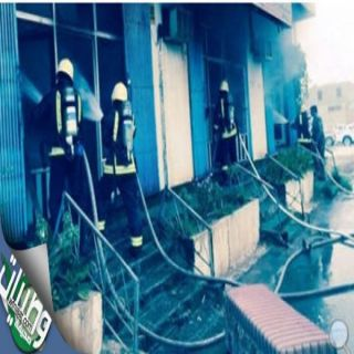 مدني #المجمعة يخمد حريق نشب في أشهرالمشاغل النسائية في المحافظة