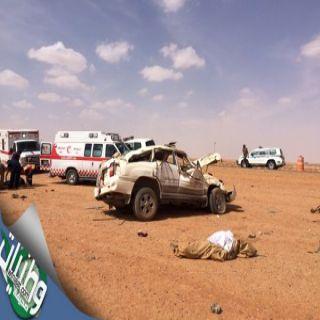 وفاتين وإصابتين في حادث طريق الجهراء العُلاء وهلال تبوك يُباشر الحادث