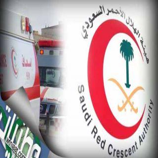 هلال #الباحة (44) حادثاً خلال الـثلاثة أيام الماضية خلف(41)إصابة