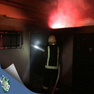 بالصور- مدني ثلوث المنظر يُسيطر على #حريق بغرفة بفناء منزل بقرية البيضاء بوادي بقرة